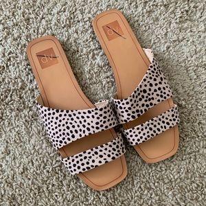 DV Leopard Print Straps Sandals
